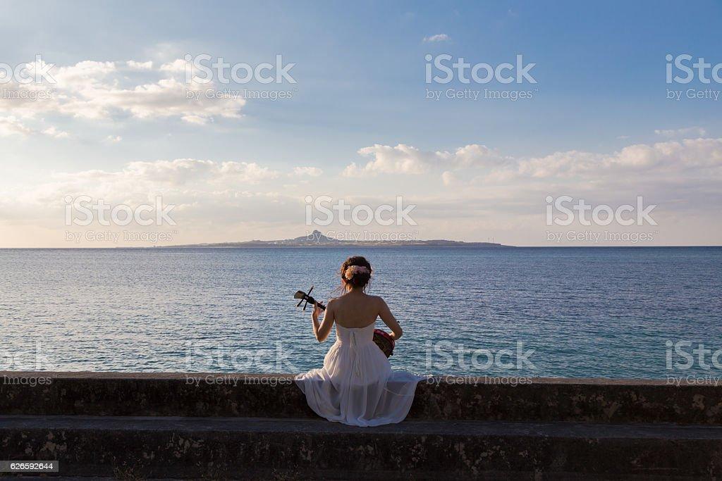 Resort wedding stock photo