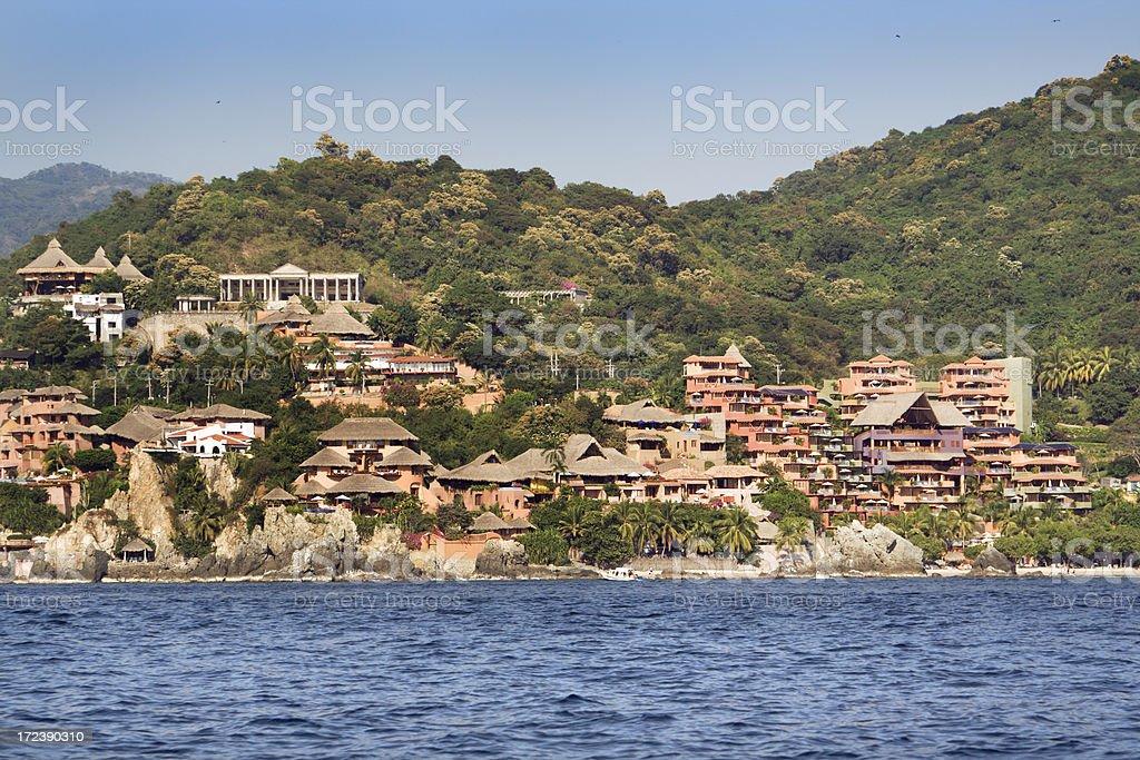 Resorts of Zihuatanejo stock photo