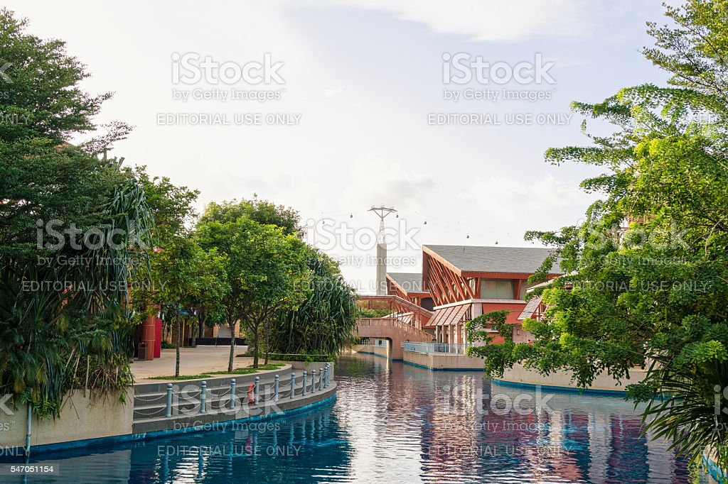 Resorts World Sentosa on Sentosa Island in Singapore stock photo