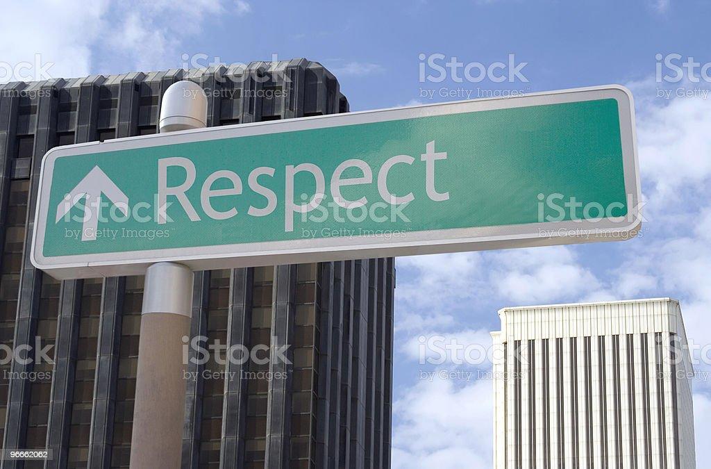 Respect Ahead royalty-free stock photo
