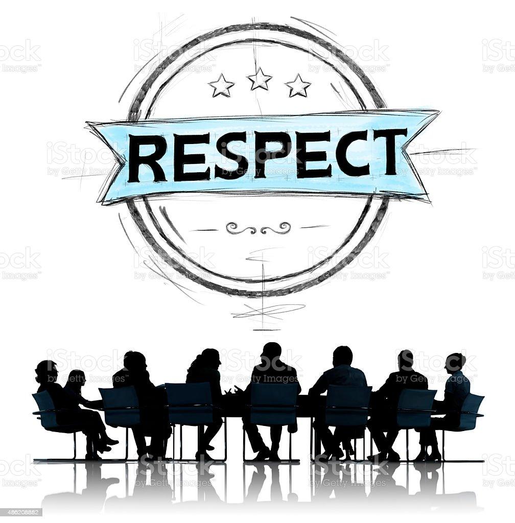 Respect Honesty Honorable Regard Integrity Concept stock photo