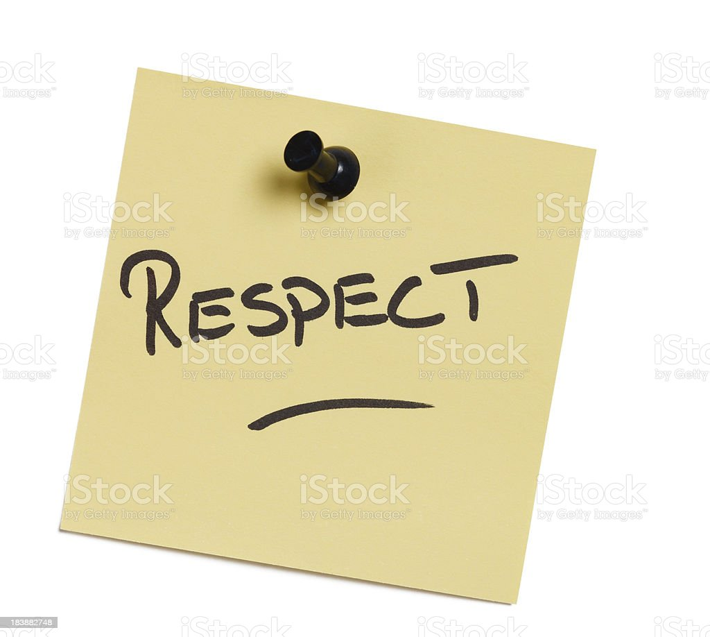 Respect Note stock photo