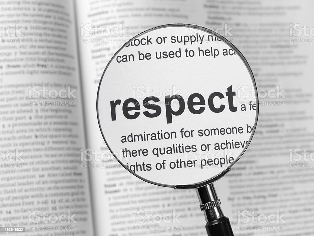 respect royalty-free stock photo