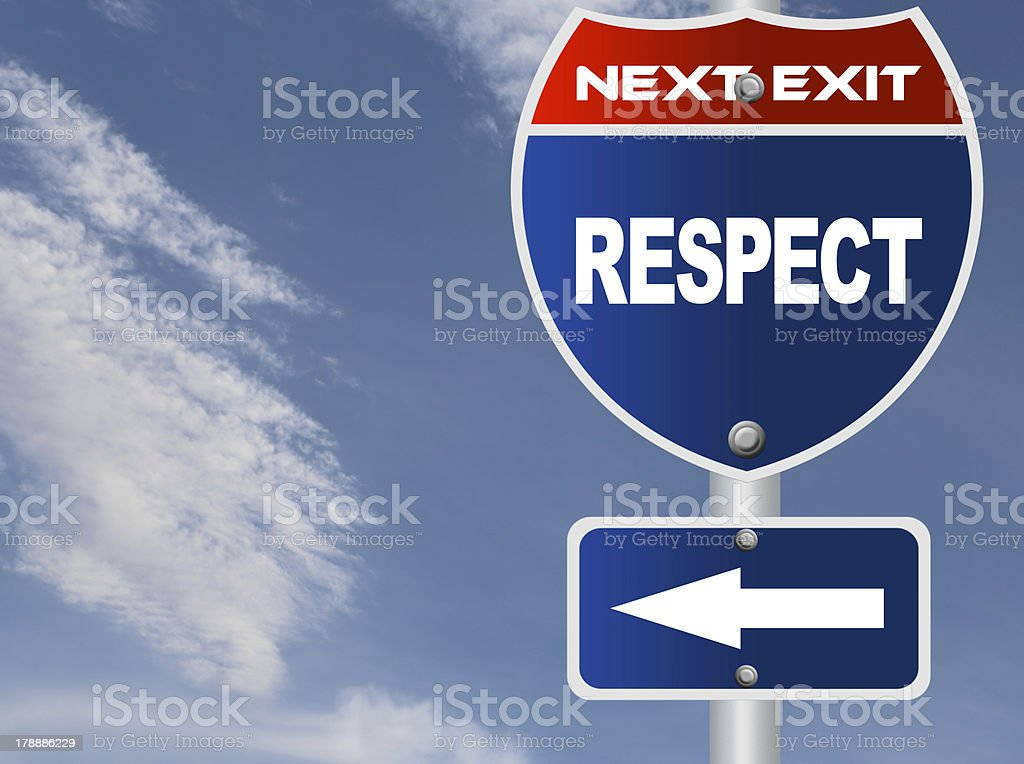 Respect road sign royalty-free stock photo