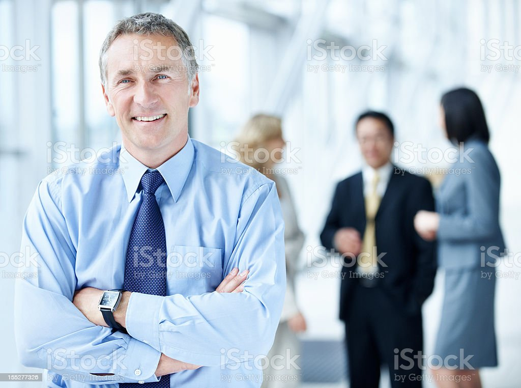 Respectable and experienced business manager royalty-free stock photo