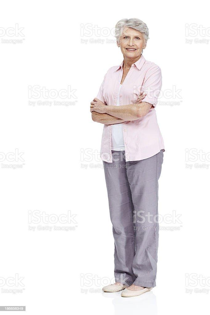 Respected member of the senior citizen community stock photo