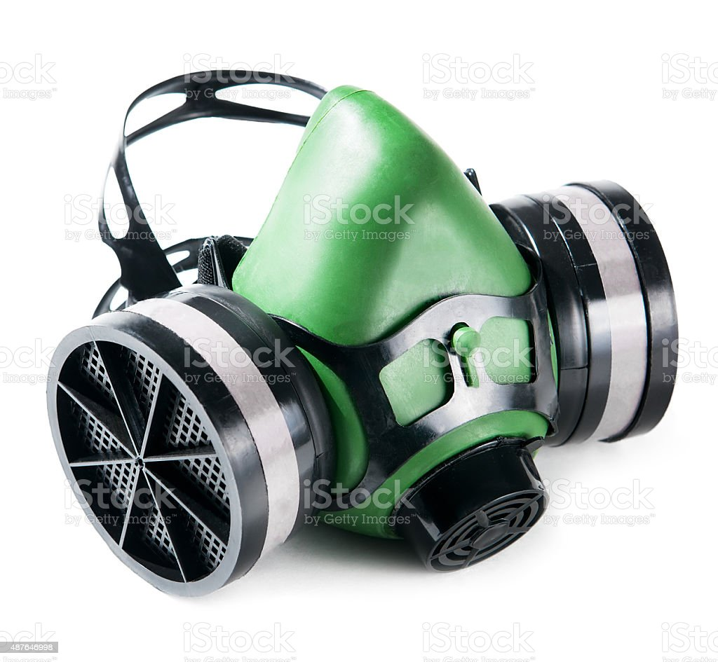 respirator isolated on white stock photo