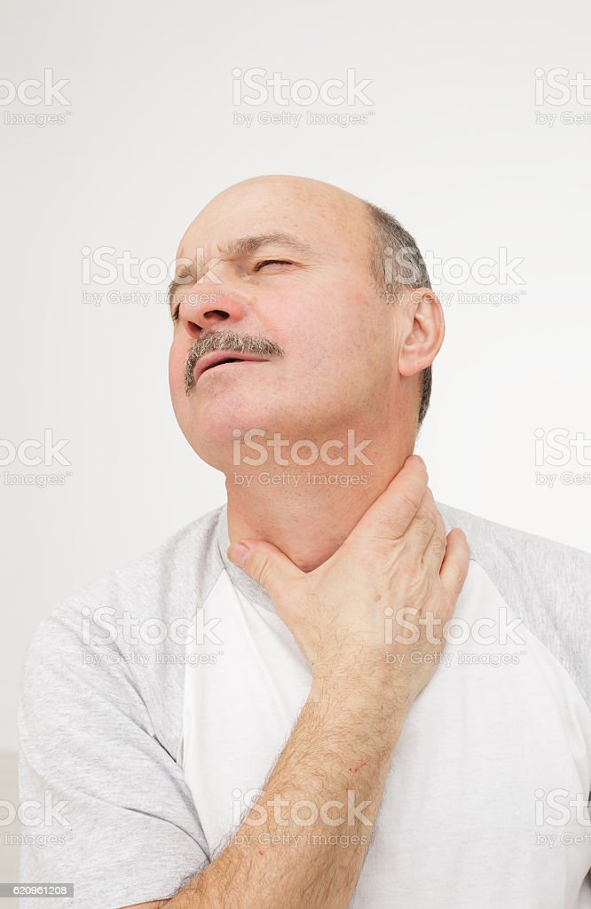 Respiratory disease in older age stock photo