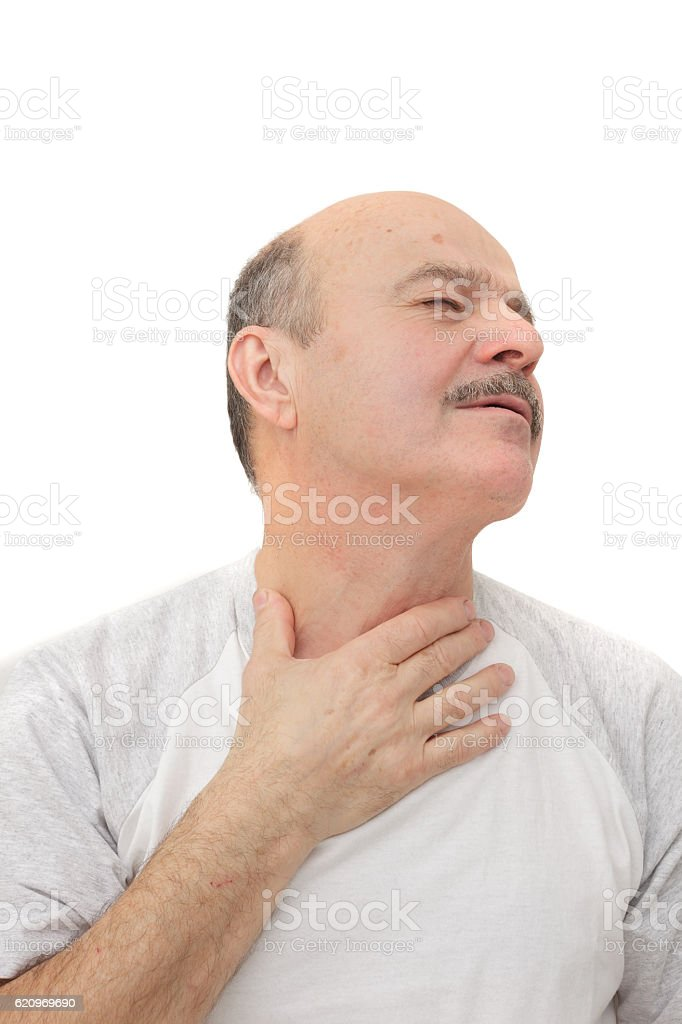 Respiratory disease in older age stock photo