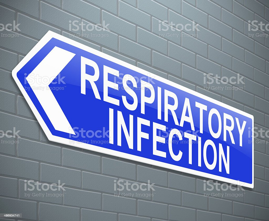Respiratory infection concept. stock photo