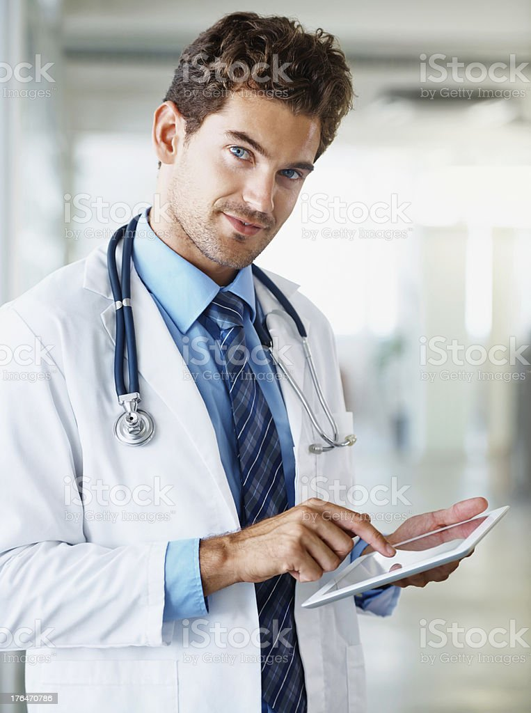 Responding to all your medical questions online royalty-free stock photo