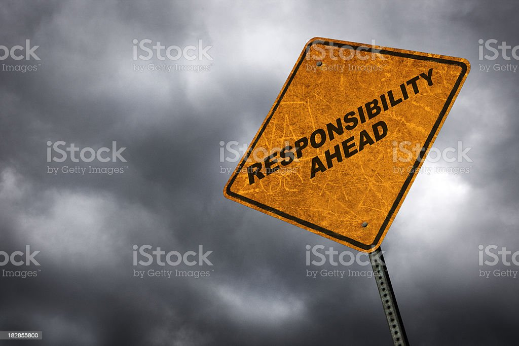 Responsibility Ahead stock photo