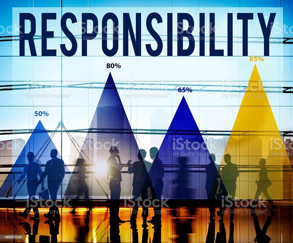 Responsibility Duty Job Reliability Roles Concept stock photo