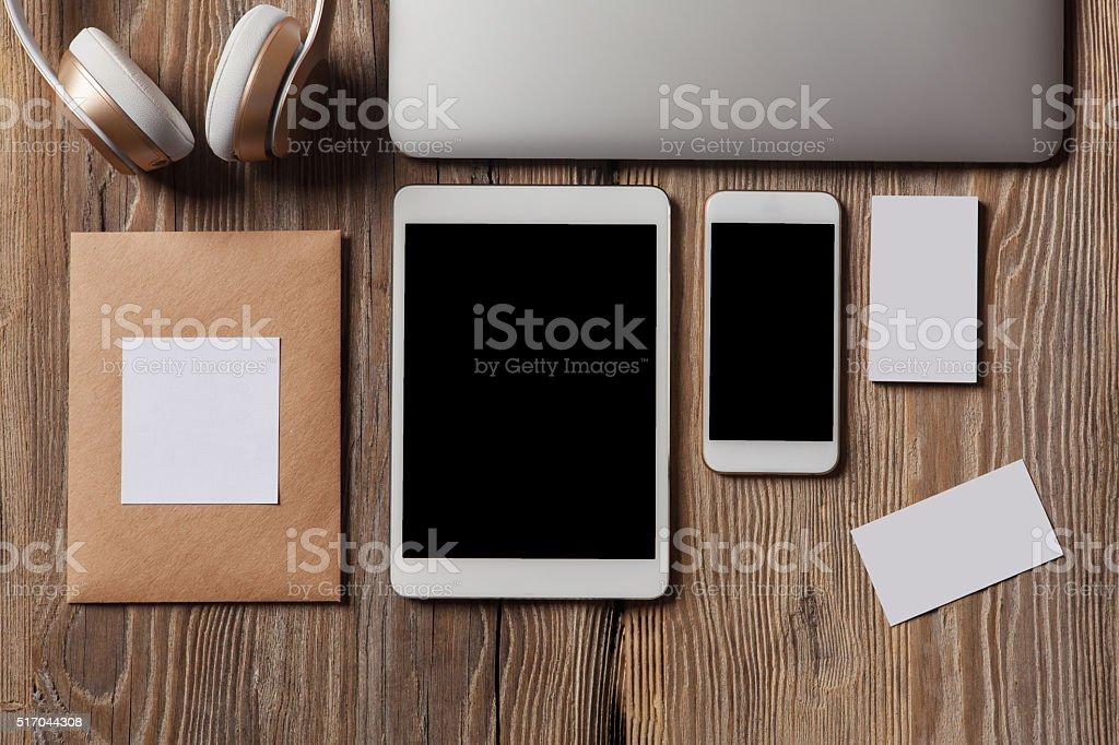 Responsive design mockup stock photo