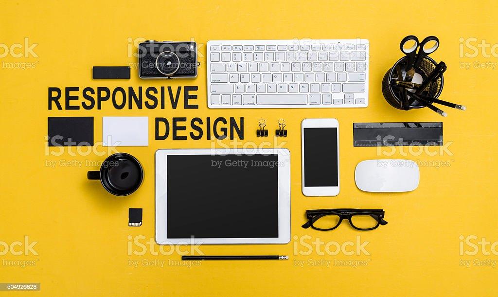 responsive design stock photo