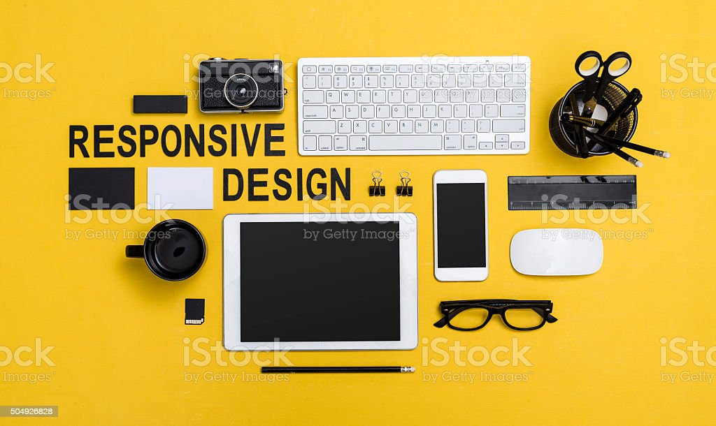 responsive design stock photo