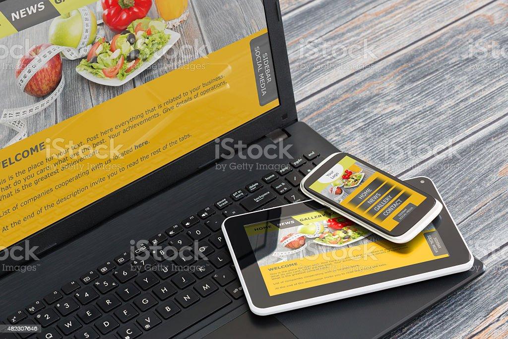 Responsive web design stock photo