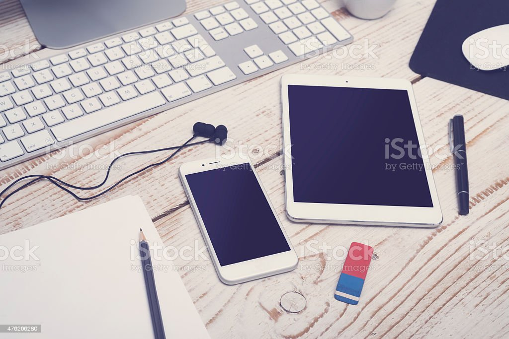Responsive webdesign mockup stock photo