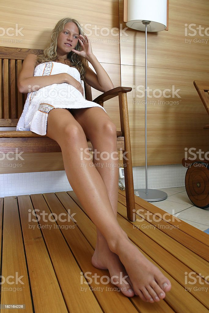 Rest after sauna royalty-free stock photo
