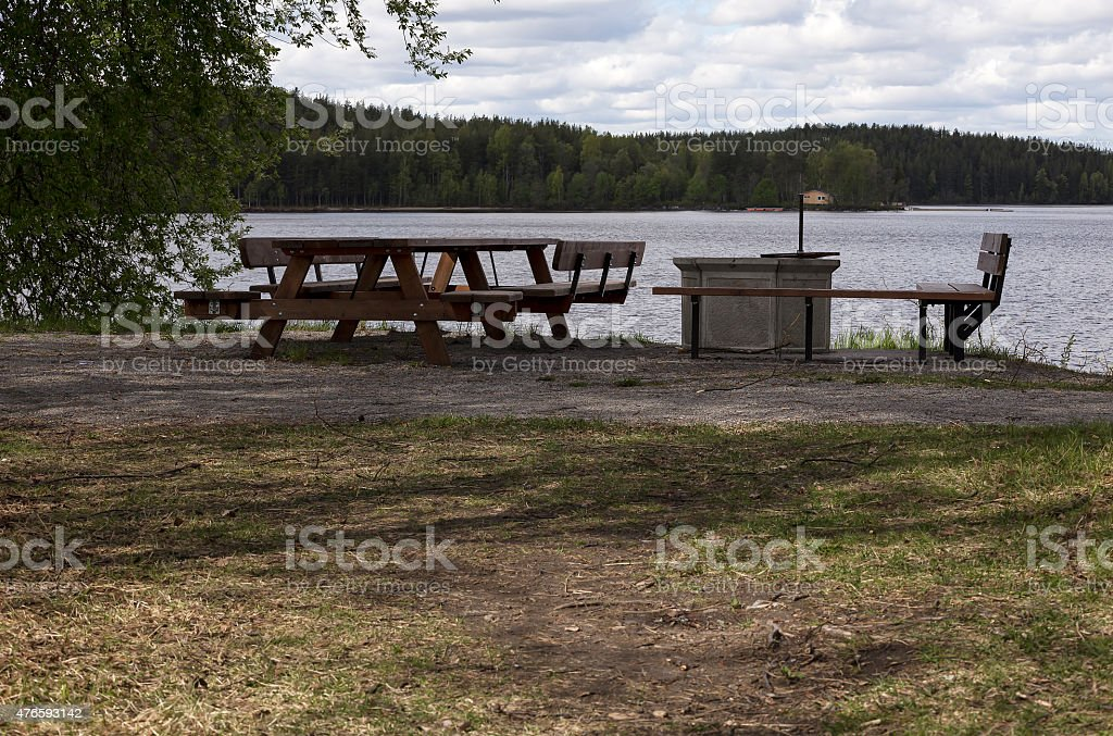 Rest area in the nature royalty-free stock photo