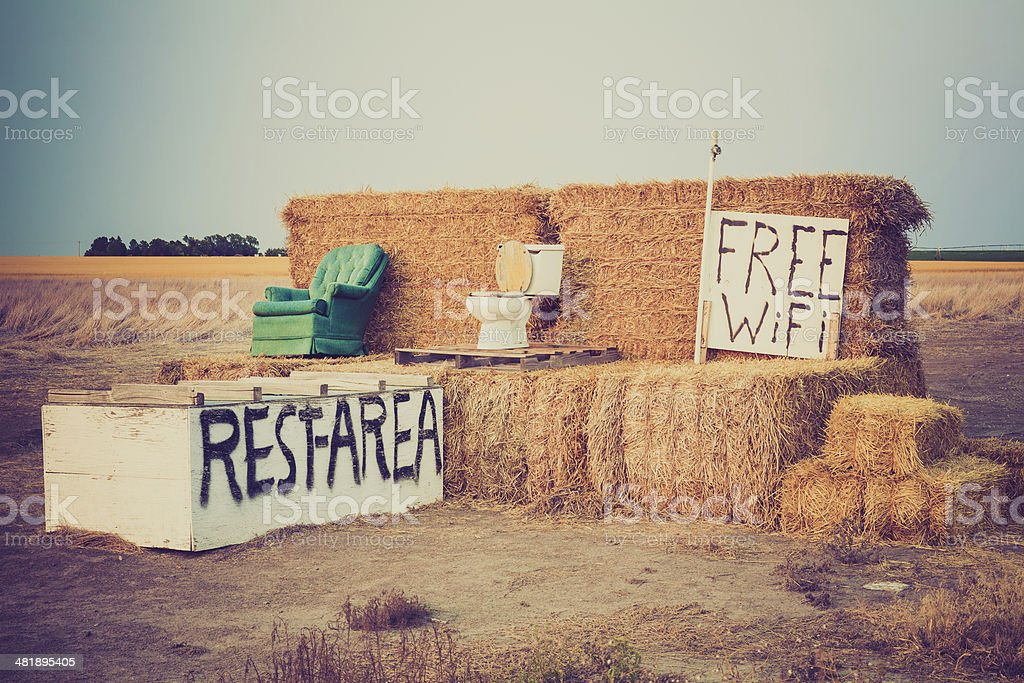 Rest Area stock photo
