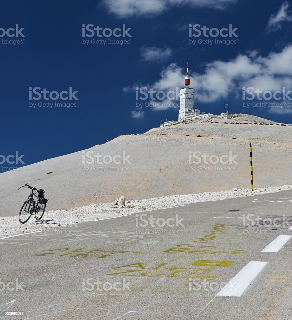 rest at Mont Ventoux stock photo