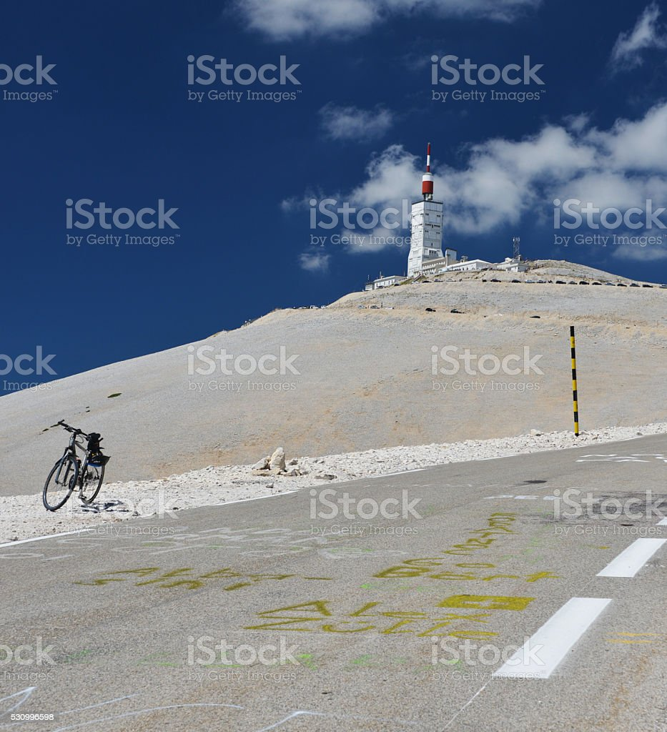 rest at Mont Ventoux stock photo
