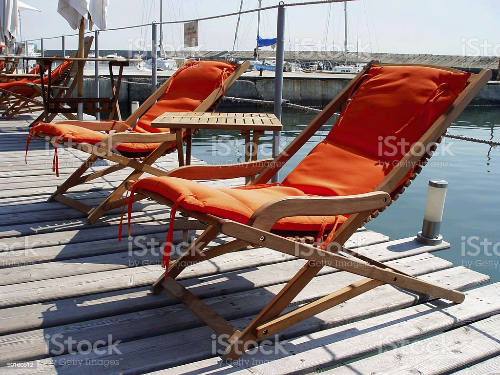 Rest at the sea royalty-free stock photo
