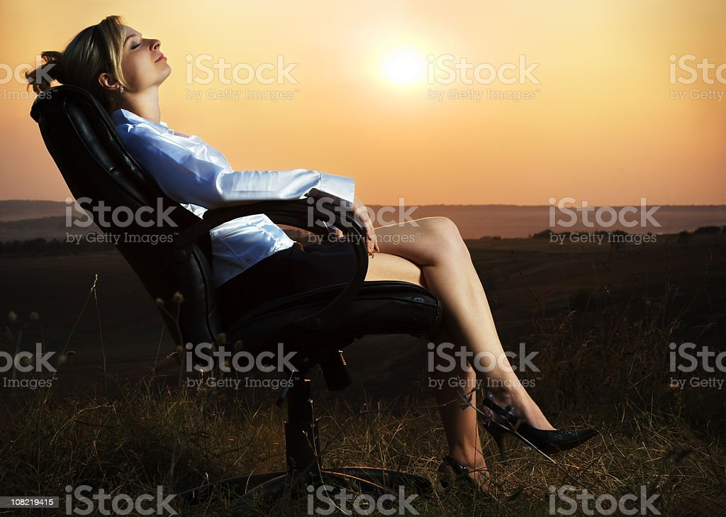 Rest at the sunset royalty-free stock photo