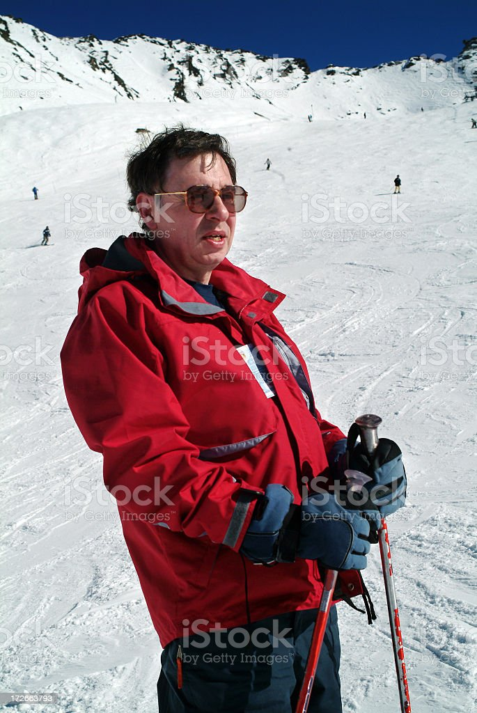 Rest during skiing royalty-free stock photo