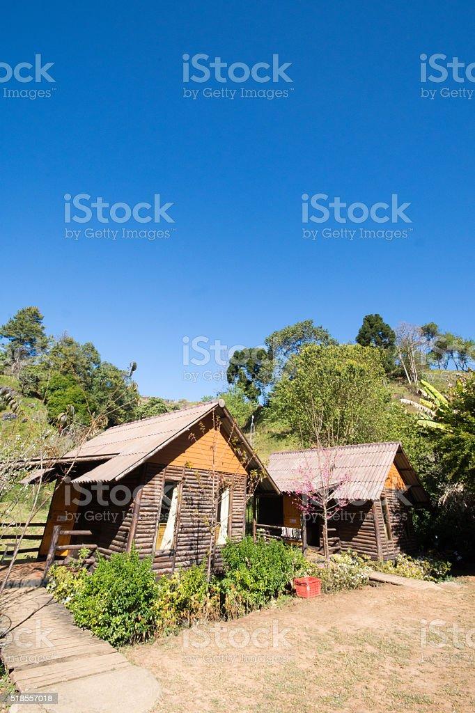 rest home at Ang Khang, Chiang Mai,Thailand stock photo