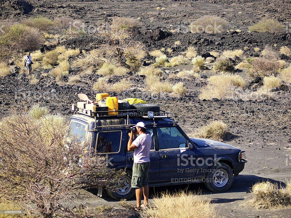Rest in desert stock photo