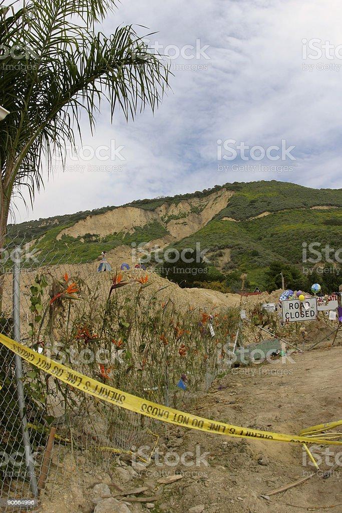 Rest in Peace La Conchita Victims royalty-free stock photo