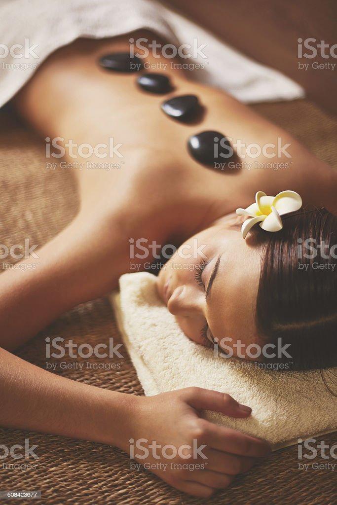 Rest in spa salon stock photo