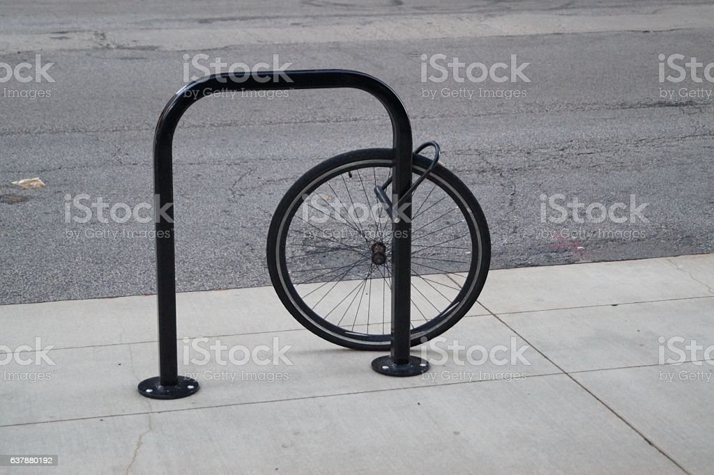 Rest of a stolen bike stock photo