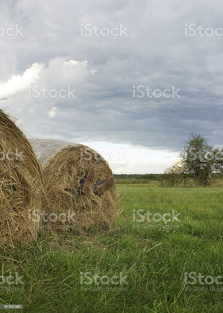 Rest of the farmer royalty-free stock photo