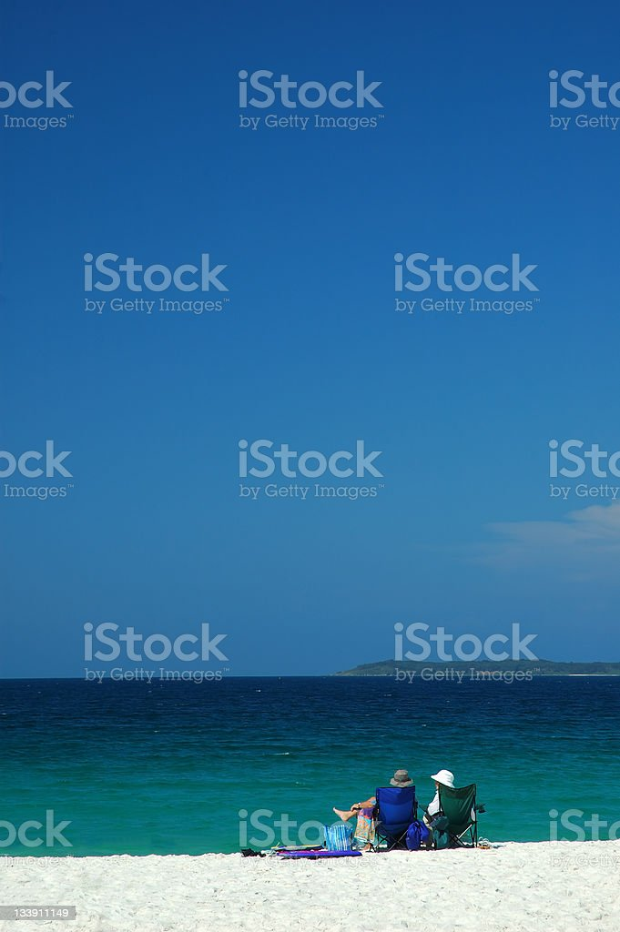 Rest on a Beach royalty-free stock photo