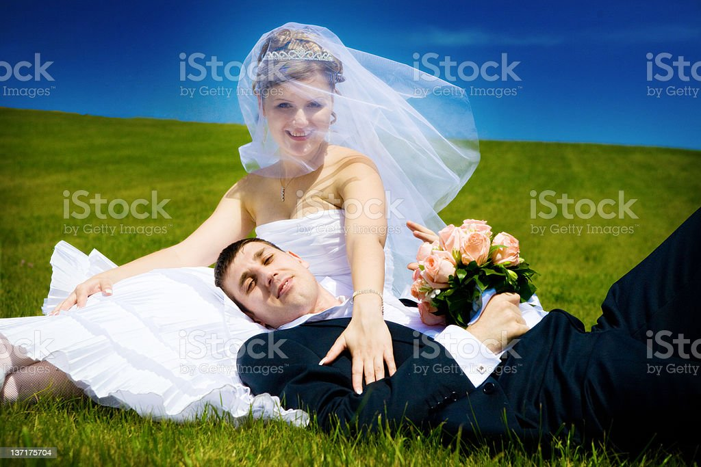 rest on the day of wedding royalty-free stock photo