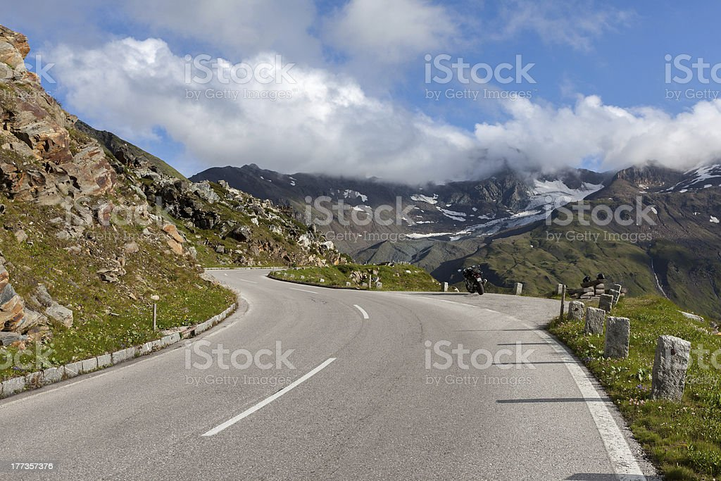 Rest on the mountain road royalty-free stock photo