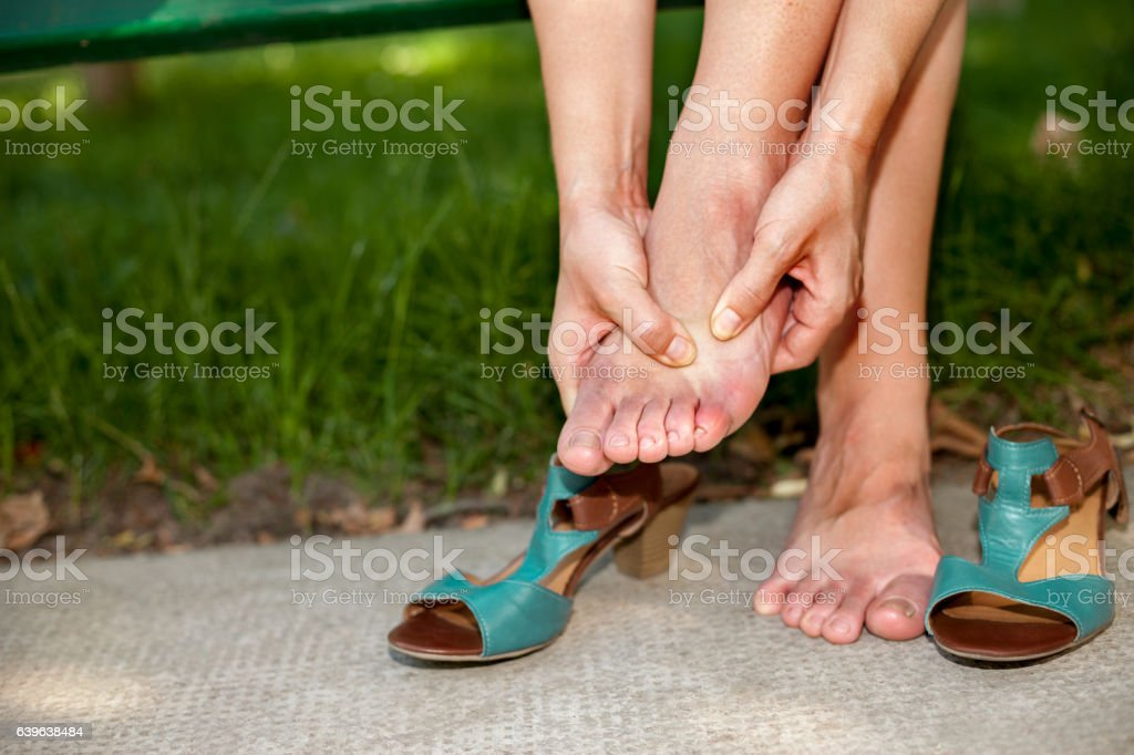 Rest your tired feet stock photo