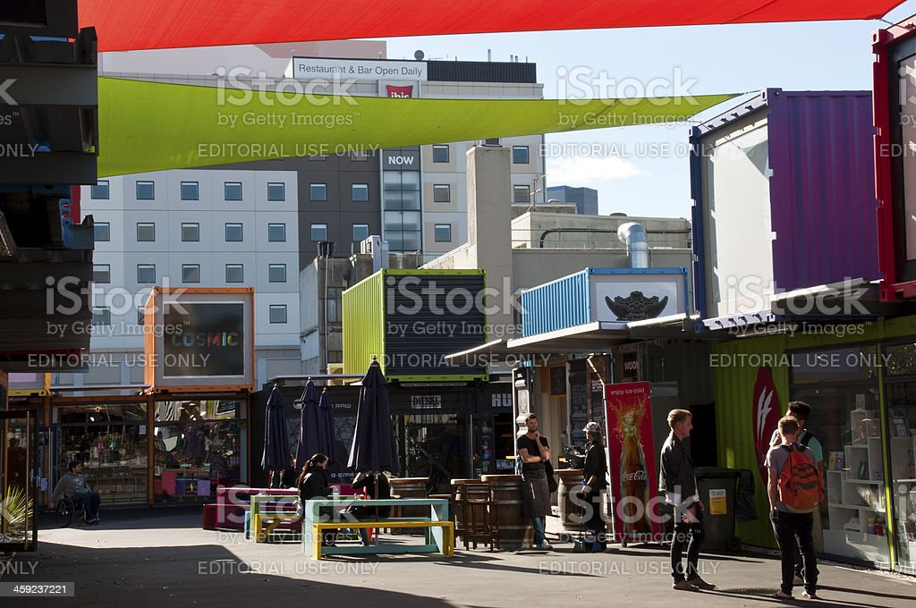 Restart after the earthquake Christchurch royalty-free stock photo