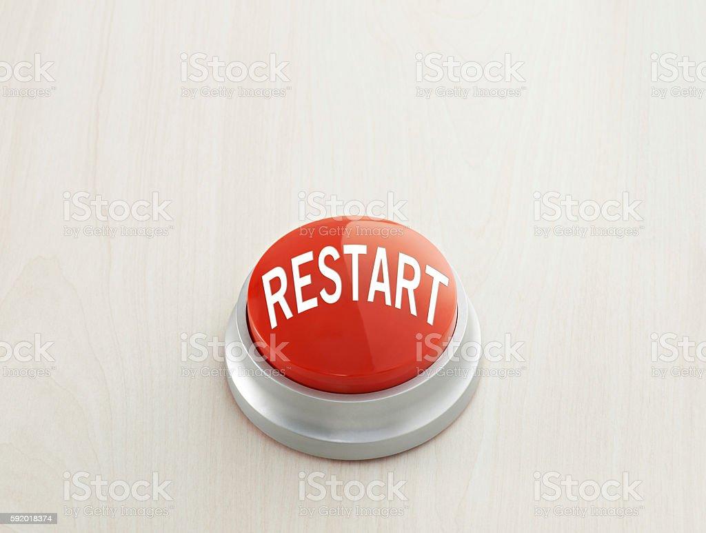 Restart Button stock photo