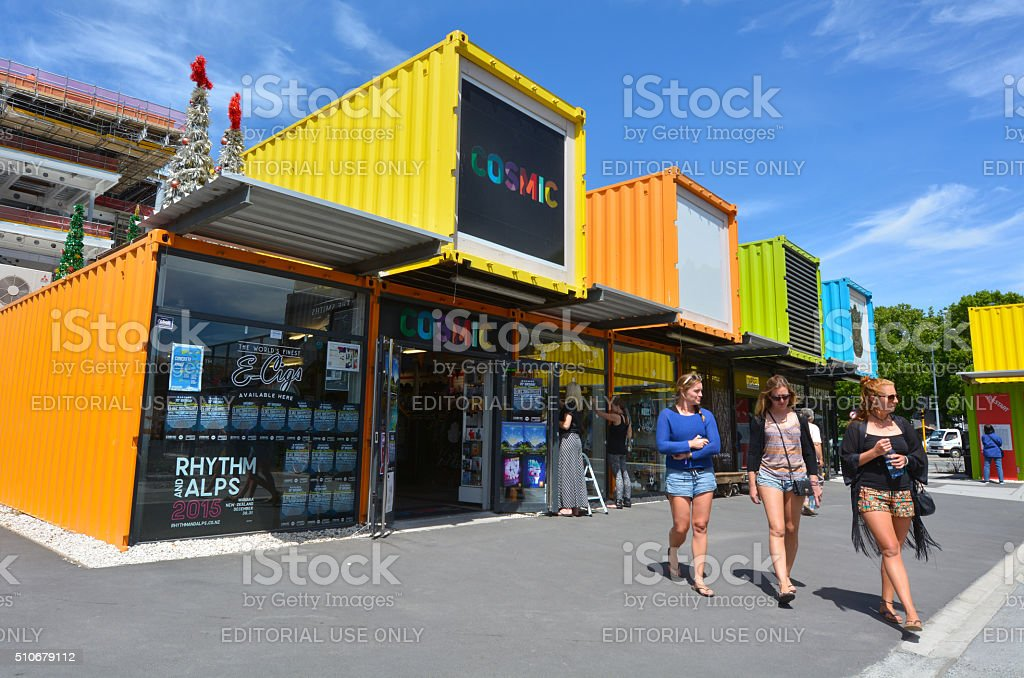 Re:START Mall in Christchurch - New Zealand stock photo