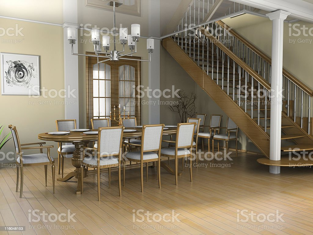 Restaurant a room in the house royalty-free stock photo