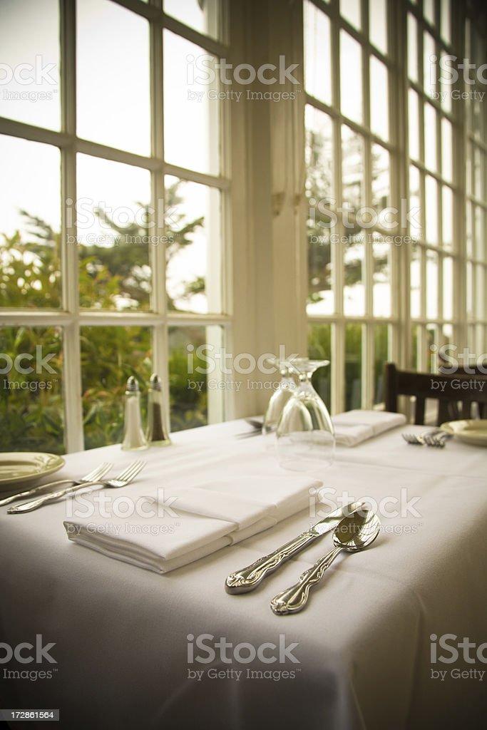 Restaurant at the beach royalty-free stock photo
