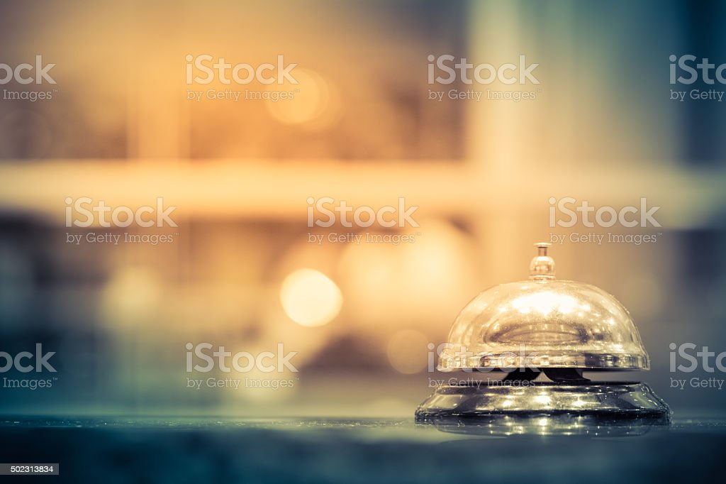 Restaurant bell stock photo
