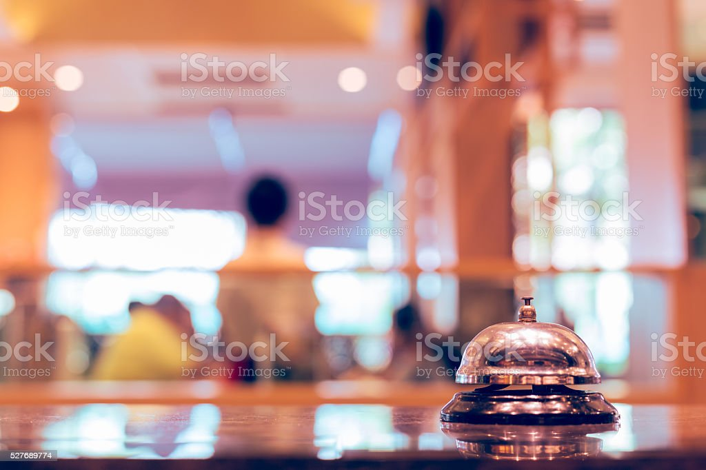 Restaurant bell service stock photo