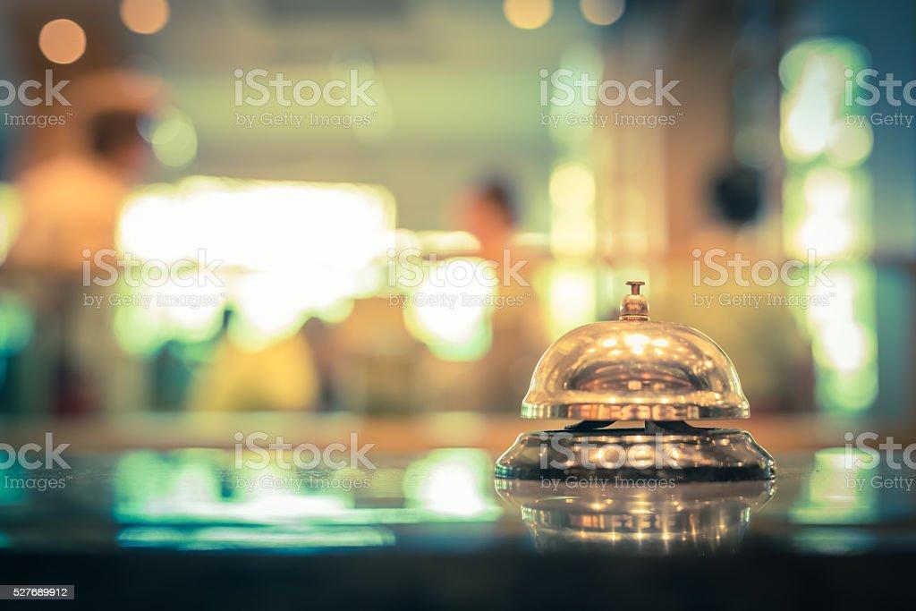 Restaurant bell service stock photo