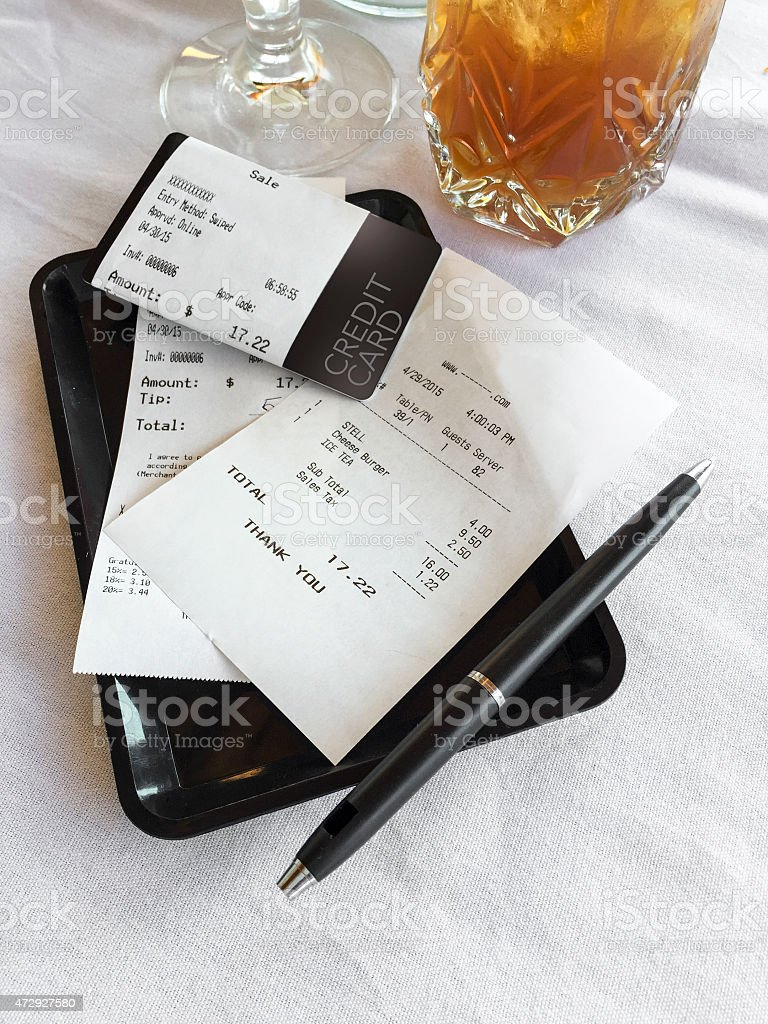 Restaurant Bill stock photo