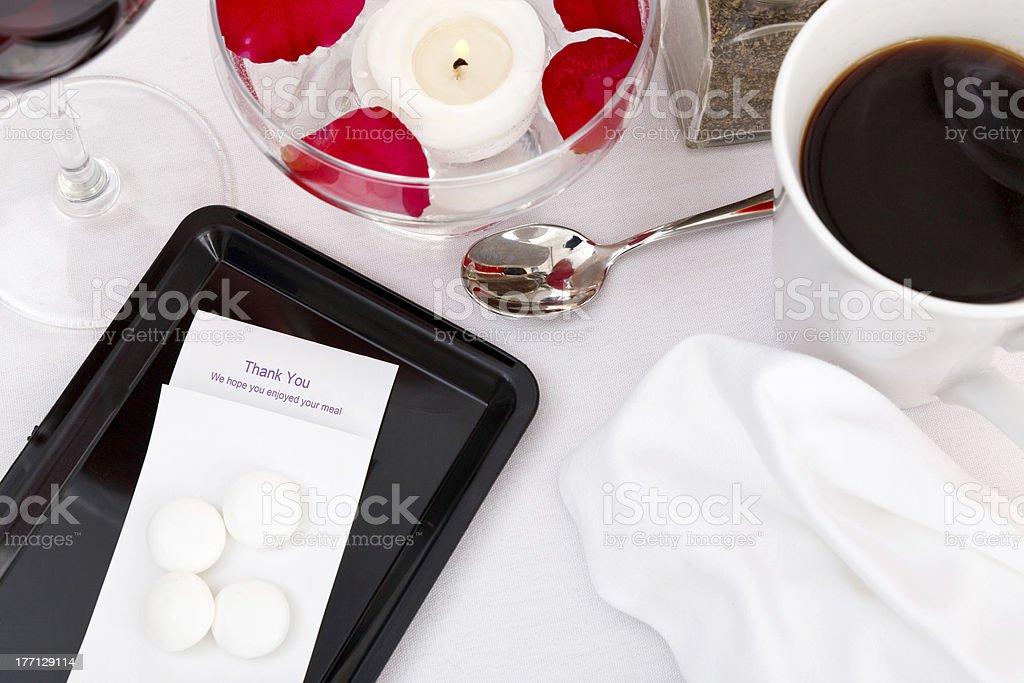 Restaurant bill still life royalty-free stock photo
